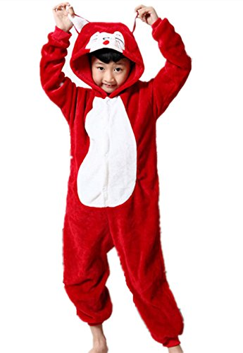 Pantoufle Enfant Flanelle Halloween Unisexe Costume En Combinaison Rouge Animaux Slipper Cosplay Deguisement Padgene Pyjama wpq7BFnIv