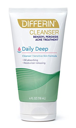 Differin Daily Deep Cleanser - Sensitive Skin Formula. Deep Cleans With The Power Of Maximum Strength Benzoyl Peroxide But With Less Iirritation and Redness