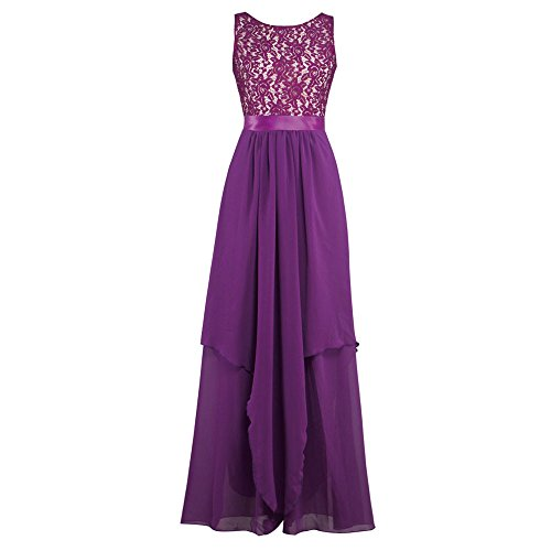 iLUGU Summer Boho Women Long Maxi Dress Evening Party Skirt Beach Sundress Chiffon Lace Plus Dress