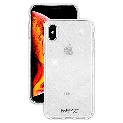 (EMERGE - iPhone XS Glitter Case / iPhone X Glitter Case - SHIMMER - Sparkle Effect - Clear)