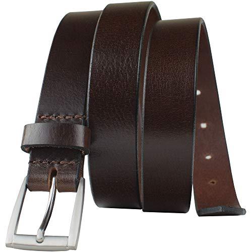 (Avery Belt - Nickel Smart - Women's Brown Genuine Full Grain Leather Belt with Nickel Free Buckle - 40