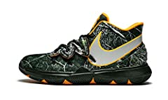 """The Nike Kyrie 5 GS """"Taco PE"""" is the kids' sizing for the limited edition colorway of Kyrie Irving's fifth signature shoe. The unique look was designed by Travis """"Taco"""" Bennett, a founding member of Odd Future, the LA-based hip-hop grou..."""