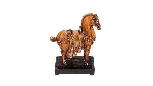 Design Toscano Emperors Tang Horse Asian Decor Statue, 13 Inch, Polyresin, Full Color