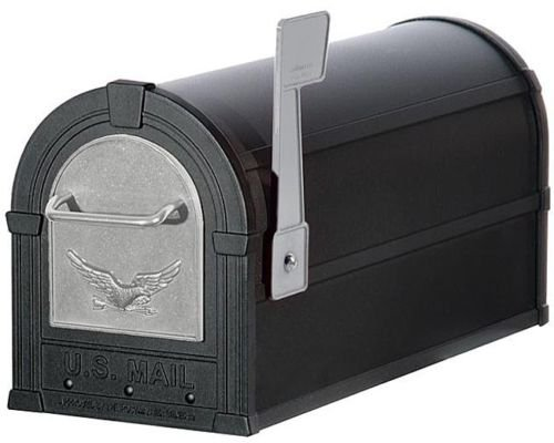 Extruded Aluminum Mailbox Post - Silver-Black-Eagle-Heavy-Duty-Rural-Mailbox Silver-Black-Eagle-Heavy-Duty-Rural-Mailbox Silver/ Black Eagle Heavy Duty Rural Mailbox