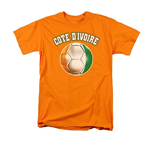 Cote D'Ivoire Ivory Coast African Pride Soccer Ball Flag Adult T-Shirt Tee