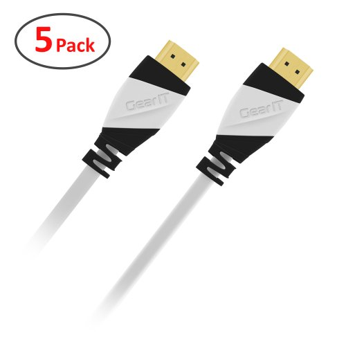 15 Ft HDMI Cable, GearIT 5-Pack Pro Series HDMI 2.0 Cable...