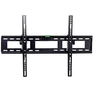 Duronic TVB123M - Soporte de pared para pantallas planas de (83-152cm) con inclinación VESA600x400, Color Negro