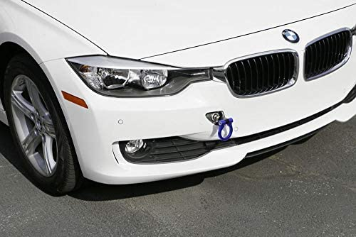 iJDMTOY Blue Track Racing Style Tow Hook Ring For BMW 1 2 3 4 5 X1 X3 X4 X5 X6 Series /& MINI Cooper Made of Lightweight Aluminum
