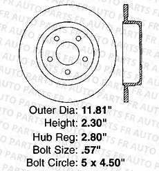 5lug High-End 8 Ceramic Pads Front+Rear Kit Fits:- Ford 4 Cross-Drilled Disc Brake Rotors