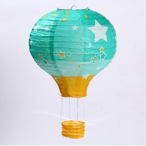 Worldoor-1230cm1640cm-Rainbow-Hot-Air-Balloon-Paper-Lantern-Kids-Birthday-Party-Wedding-Decoration-22-Colours-for-choose-5-Pack-12-inch-Stars