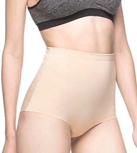 Lapasa Women's Shapewear High Waist Brief Panty Shaper Sliming Underwear L12 (Small, Nude)