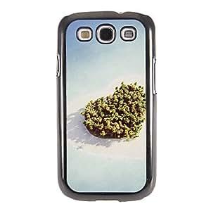 ZXM-Patrón Love Island Espejo Liso nuevo caso duro con la película de alta definición de pantalla 3 piezas para Samsung Galaxy S3 I9300