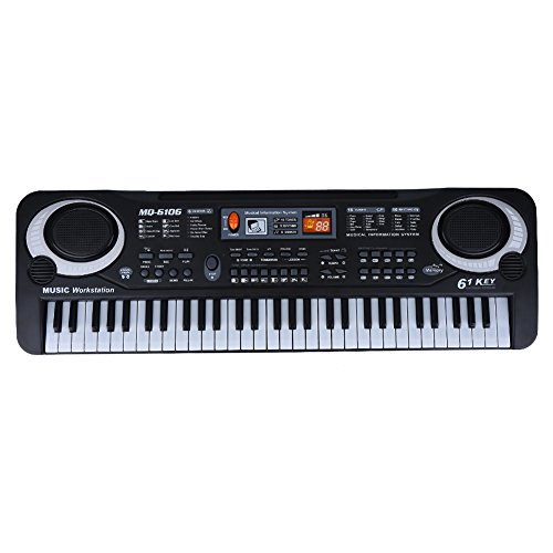 GOTOTOP Keyboard Piano, 61-Key Digital Electric Piano Keyboard with Microphone Portable Electronic Keyboard for Beginners