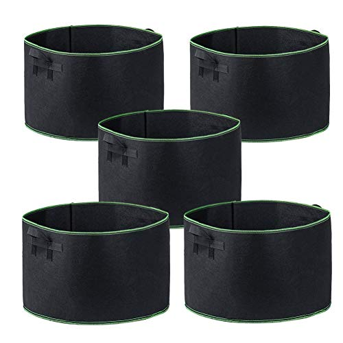 (Garden4Ever Grow Bags 5-Pack 25 Gallon Aeration Fabric Pots Container with Handles)