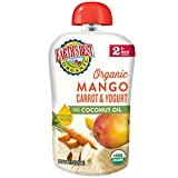 Earth's Best Earth's Best Organic Stage 2 Baby Food, Mango, Carrot and Yogurt with Coconut Oil, 3.5 Ounce Pouch (Pack of 12), 12 Count