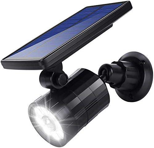 Hallomall Solar Lights Motion Sensor Outdoor, 800lumens 2 in 1 Solar Wall Lights In-Ground Lights Outdoor Solar Spotlight, Upgraded Solar Powered Motion Sensor Security Light