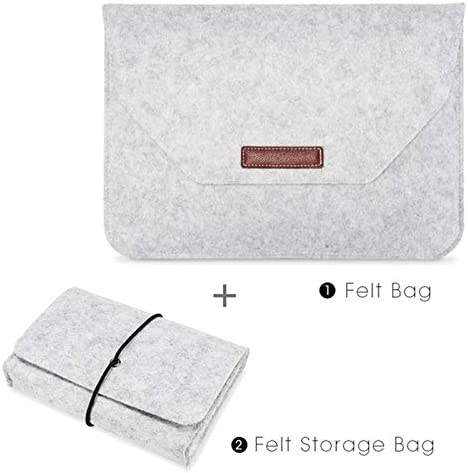 with Power Storage Bag YINZHI Compatible with Mac Grey Size:11 inch Portable Air Permeable Felt Sleeve Bag for MacBook Laptop Color : Grey