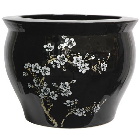 Japanese Wedding Flowers - Classic Japanese Chinese Asian Ceramic Planter - 14