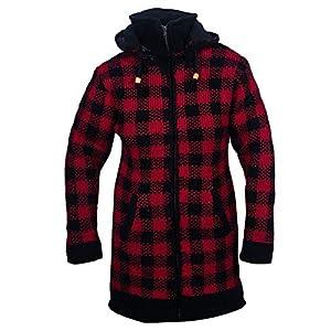 Ezhippie Abrigo largo de punto de teñido anudado de cuello alto para mujer | DeHippies.com
