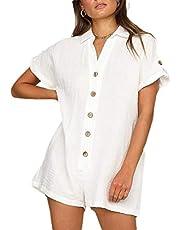 GAGA المرأة الصيف قصيرة الأكمام رومبير عارضة فضفاض المشدود قصيرة ارتداءها