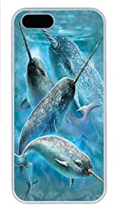 Narwhals PC Case Cover for iPhone 5 and iPhone 5s White