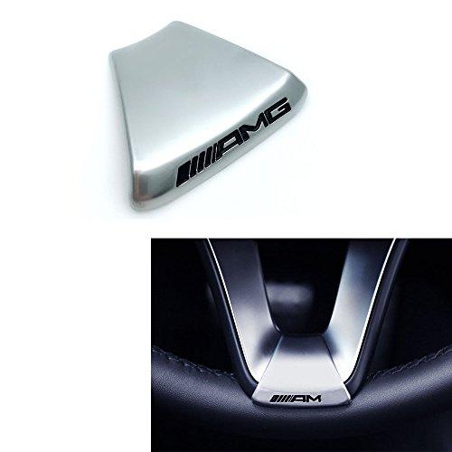 Duoles NEW Steering Wheel Emblem Decal Sticker Badge Decoration AMG Logo For Mercedes-Benz GLC C180L C200L C300L New C class]()