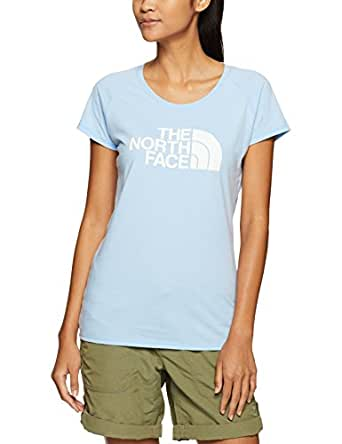 The North Face Women's W S/S Scoop Neck Tee,Chambray Blue Heather/TNF White,Xs