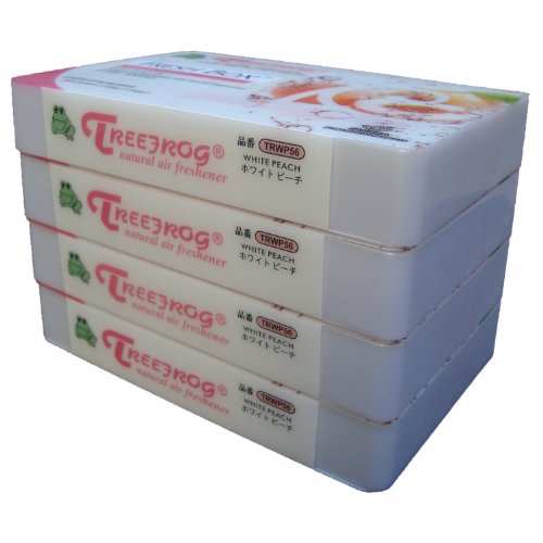 White Peach Scent 4 Pack, Treefrog Natural Air Freshener Fresh Box (AKA Xtreme Fresh)