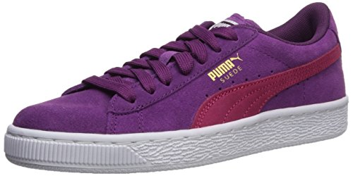 PUMA Kids' Suede Sneaker,Dark Purple-Love Potion,6 M US Big Kid (Shoes Girls Suede)