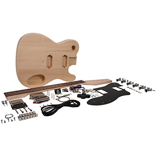 Seismic Audio - SADIYG-04 - Premium DIY Tele Style Electric Guitar Kit - Dual Humbuckers Luthier Project - Diy Fender