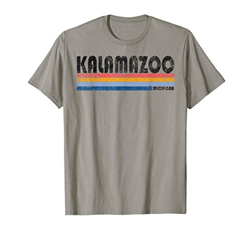 Vintage 1980s Style Kalamazoo Michigan T-Shirt for sale  Delivered anywhere in USA