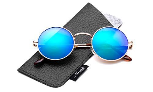 John Lennon Glasses Hippy 60's Vintage Retro Round Sunglasses & Clear Lens (Sunglasses - Green Flash, ()