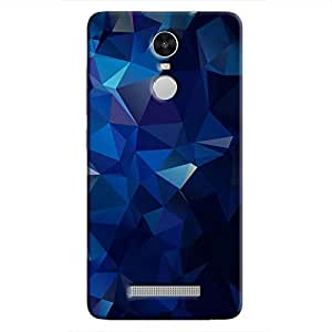 Cover It Up - Dark Blue Pixel Triangles Xiaomi Redmi Note 3 Hard Case