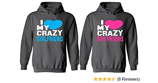 Amazoncom I Love My Crazy Girlfriend Boyfriend Matching Couple