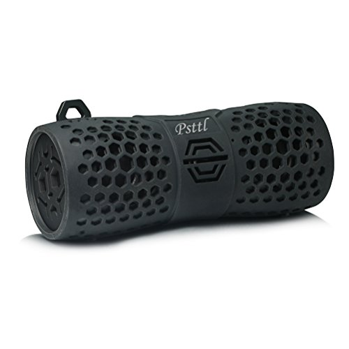 Psttl 213 IPX6 Waterproof Bluetooth Outdoor Wireless Portable Shower Speaker up to 6 Hours Playtime Superior Sound for Camping Beach Sports Kayaking Pool Party