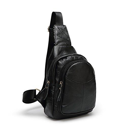 mefly bolsa de viaje bolsa de hombres y mujeres de un arnés de hombro sobre el hombro los hombres y las mujeres, marrón negro