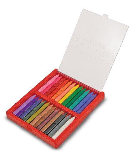 Melissa Doug Triangular Crayons Flip Top