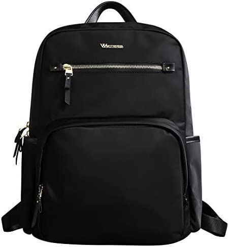 Wolfrealm Business Backpack Laptop Backpack Purse for Women Fashion Ladies School Bag fit 14.1 inches Lightweight Waterproof,Black
