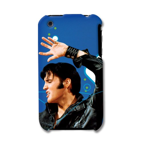 Licensed Blue Elivis Snap-On with Elvis Image Wearing a B...