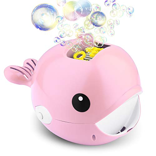 Biulotter Bubble Machine, Automatic Bubble Blower, Bubble Maker 2000+ Per Minute Bubble Machine for Kids, Easy to Use for Parties, Wedding, Indoor and Outdoor Activities (Bubble Machine Pink) -