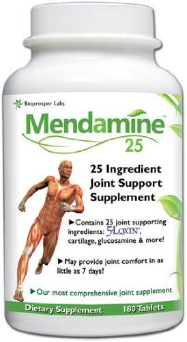 Supplément ingrédient Mendamine 25 conjointe avec la glucosamine, chondroïtine, Boswellia serrata, cartilage de poisson, Msm, phytostérols, et plus encore!