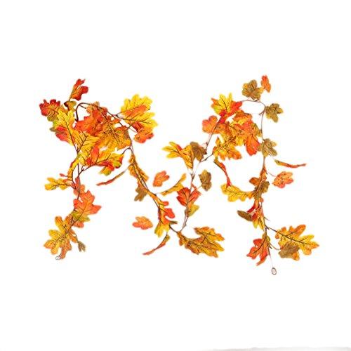 BESTOYARD Guirnalda de Hojas de Arce Acción de Gracias Caída de otoño Decoración de Cosecha de guirnaldas (Hoja de Arce...