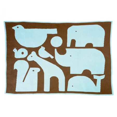 Dwell Studio Animals Chocolate Graphic Knit Blanket Dwell Studio Knit Blanket