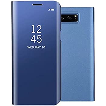 Galaxy S105G Shell, Translucent Window View Flip Wallet Stand Cover, Shiny Plating Make Up Mirror, TAITOU Smart Sleep/Awake Hard Case For Samsung ...