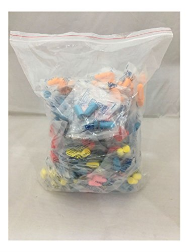 (100 Packs) 200 Ear Plugs Lot Bulk soft Orange Colorful foam sleep travel noise shooting earplug by Unknown