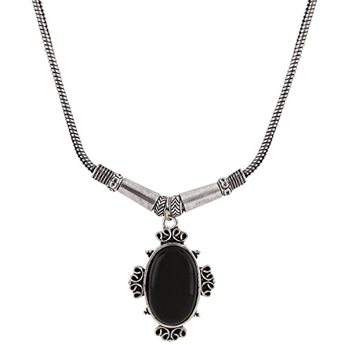 age Retro Ethnic Gypsy Oxidized Tone Boho Necklace Jewellery for Girls and Women ()