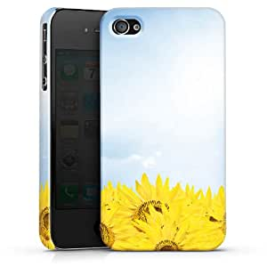 Carcasa Design Funda para Apple iPhone 4 / 4S PremiumCase white - Sunflower Field