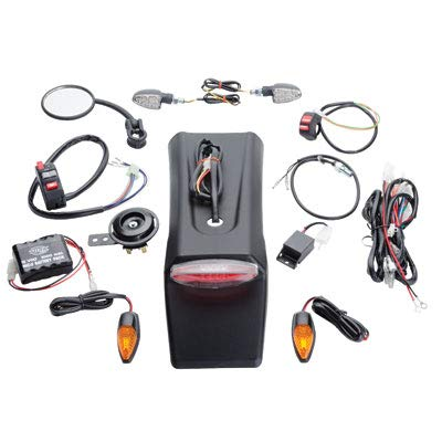 Tusk Universal Motorcycle Enduro Lighting/Street Legal Kit WITH Battery Pack