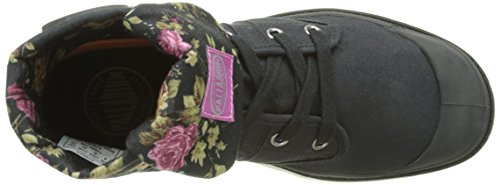 Palladium Women's Baggy TWL F Hi-Top Sneakers Black (738 Black/Flower) bxTmHAVz2H