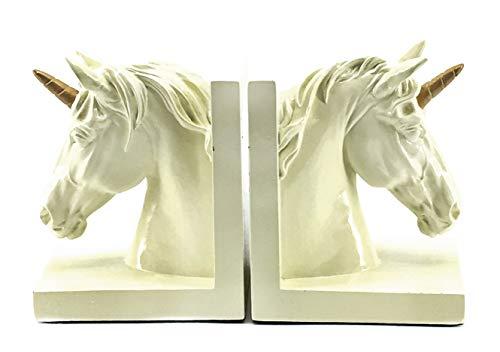 Bellaa 24186 Unicorn Bookends Magical Fairy Tale